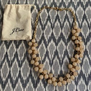J.Crew Cream & Gold Bauble Necklace